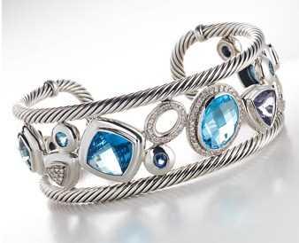 pulsera gema azul